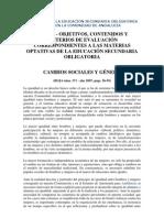 CAMBIOS SOCIALES Y GÉNERO. (BOJA núm. 171 - año 2007)