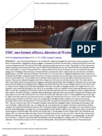 FDIC Sues Former Officers, Directors of Westsound Bank