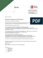 Offener Brief zur Anpassung Kirchenaustrittsprozess