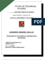 digital heart beat Counter