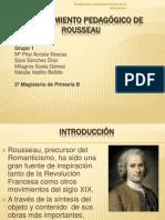 El pensamiento pedagógico de Rousseau. Grupo 1