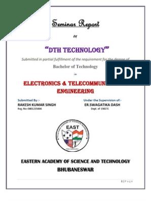 DTH Tech  Seminar Report by Rakesh | Satellite Television | Direct