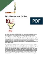 2012 Chinese Horoscope