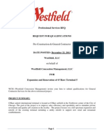 Westfield RFQ for General Contractor Services