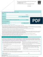 Dental Care Claim Form 2010