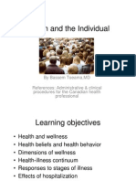 2-Health and the Individual