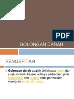GOLONGAN DARAH