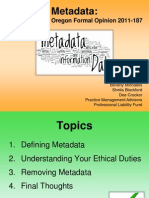 Metadata - Complying With Oregon Formal Opinion 2011 187