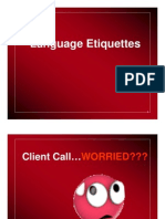 Our Language Language Etiquettes