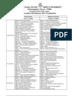 Examination Datesheet 2011-2012