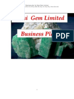 Business Plan, Musi Gem Limited, Copperbelt Province, Zambia