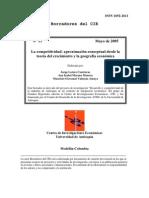 Competitividad Teoría Del Crecimiento y Geografía Económica