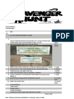 Final Scavanger Hunt List