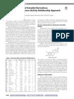 Anticancer Activity of Estradiol Derivatives a Quantitative Structure Activity Relationship Approach