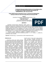Kajian QSAR Senyawa Anti Malaria Turunan 1,10-Fenantrolin Menggunakan Desk Rip Tor Elektronik Hasil Perhitungan Metoda Semiempirik AM1