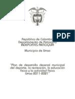 Plan decenal del deporte 2011-2021, Urrao