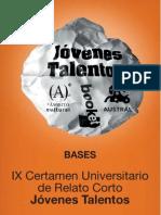IX Certamen Universitari de Relat Curt Joves Talents