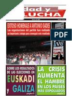 Unidad y Lucha, nº 263, marzo 2009