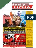 Unidad y Lucha, nº 269, noviembre 2009
