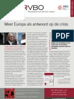 Meer Europa als antwoord op de crisis, Infor VBO 41, 21 december 2011