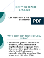 Poetry to Teach English
