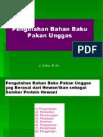 Presentasi 2, Pengolahan bahan pakan unggas