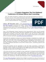 Avila Business Centers organiza a  primeira conferência nacional sobre escritórios virtuais - PR ABC 25-11-11-EN