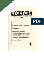Etcétera, nº 47, 2010 - El universo técnico y su exterior