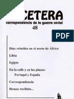 Etcétera, nº 48, 2011 - Días rebeldes en el norte de África