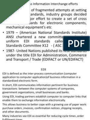 Inter Organizational Commerce and EDI   Electronic Data Interchange