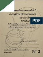 desarrollo sostenible o control democrático de las fuerzas productivas
