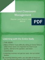Preschool Clasrooom Management