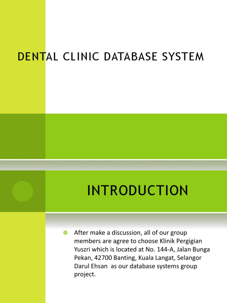 Dental clinic database system dentistry patient ccuart Gallery