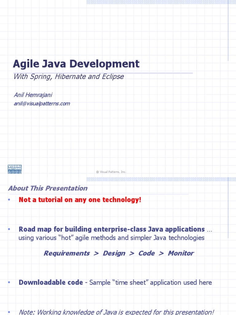 Java role in the development of the internet of things codespring - Agile Java Dev With Spring Hibernate Eclipse Agile Software Development Use Case