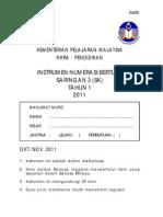 Instrumen Numerasi Bertulis Tahun 1 2011