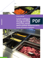 Lunch eating patterns during  working hours and their social  and work-related determinants