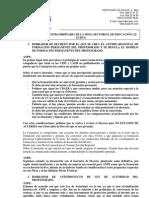 Informe Mesa Sectorial 22 Diciembre 2011