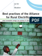 Best Practises of the Alliance for Rural Electrification