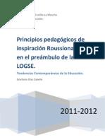 PRINCIPIOS PEDAGÓGICOS DE ROUSSEAU EN EL PREÁMBULO DE LA LOGSE_PRIMARIA