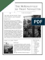Winter 2011 McKinleyville Land Trust Newsletter