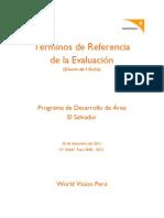 TDR Evaluación El Salvador - World Vision Perú
