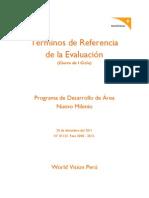 TdR Evaluación Nuevo Milenio - World Vision Perú