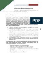 Consideraciones Protocolo de Investigacion