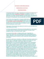 ESTUDIOS HIDROGEOLOGICOS
