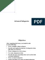 computer notes - Advanced Sub Queries