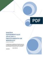 libro diseños factoriales aplicado a procesamiento de minerales