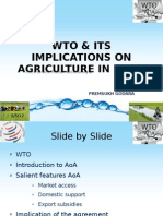 Wto & Its Implications on Agriculture