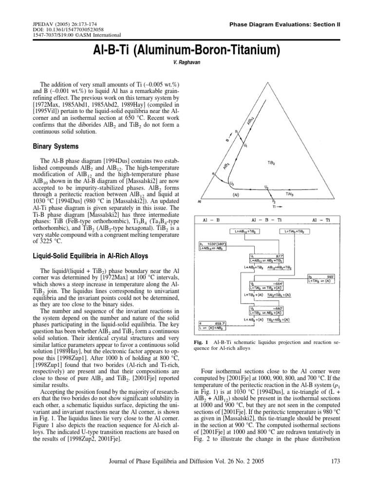 Al b ti aluminum boron titanium thermodynamics chemistry ccuart Image collections