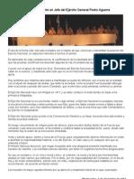20111205 - Declaración del Comandante en Jefe del Ejército ante la aparición de restos de Julio Castro