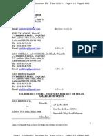 LIBERI v BELCHER (N.D. TX) - 202.0 - RESPONSE filed by EVELYN ADAMS, Philip J Berg, GO EXCEL GLOBAL, LISA LIBERI, LISA M. OSTELLA, The Law Offices of Philip J Berg re